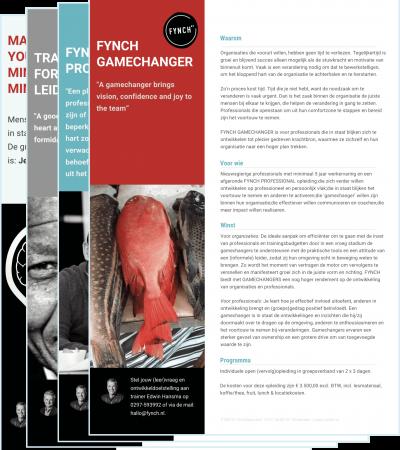 Leaflet FYNCH GAMECHANGER